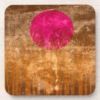 Sunset | Abstract Painting 11 Drink Coaster
