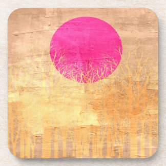 Sunset | Abstract Painting 3 Drink Coaster