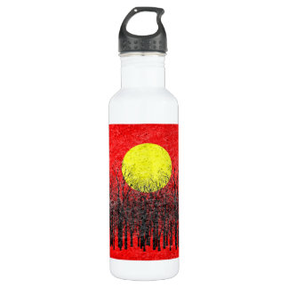 Sunset | Abstract Painting 6 Stainless Steel Water Bottle