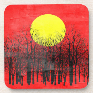 Sunset | Abstract Painting Drink Coaster