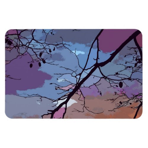 Sunset Abstract Rectangular Magnets