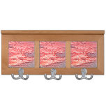sunset abstract red pink colored background coat rack