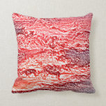 sunset abstract red pink colored background pillows