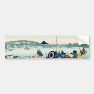 Sunset across the Ryōgoku bridge Bumper Sticker
