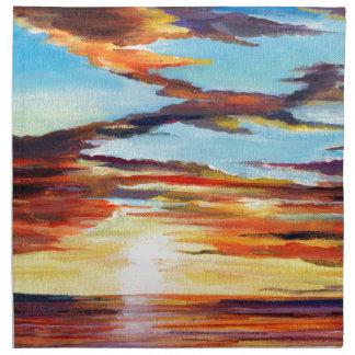 Sunset Acrylic Painting Cloth Napkin