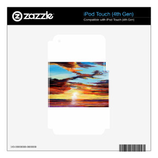 Sunset Acrylic Painting iPod Touch 4G Decal