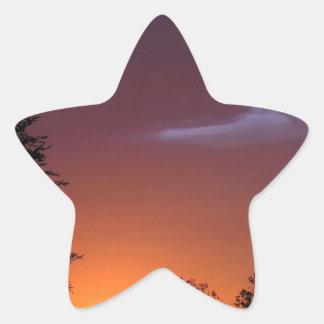 Sunset African Delight Star Sticker
