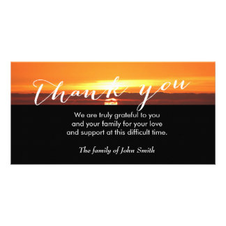 Sunset After Funeral Memorial Thank You Card