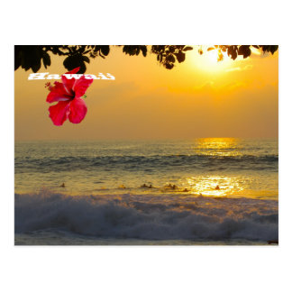 Sunset Aloha from Hawaii Postcard