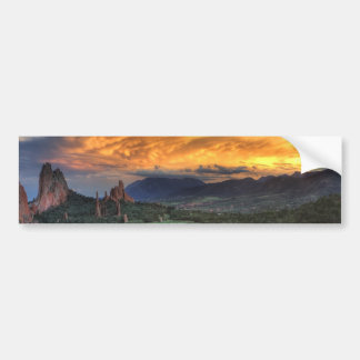 Sunset along Garden Path Bumper Sticker