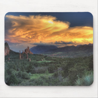 Sunset along Garden Path Mouse Pad