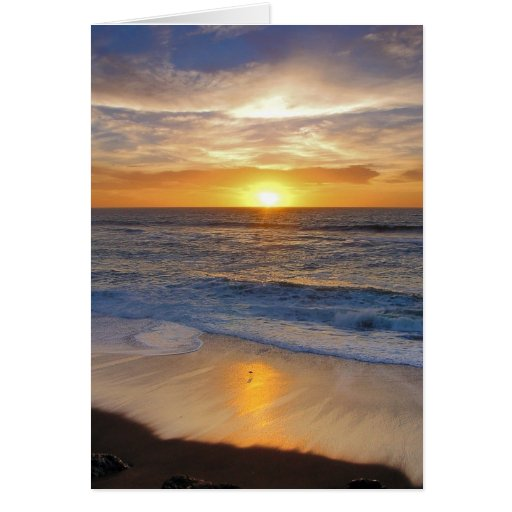 Sunset along the California coast. Card
