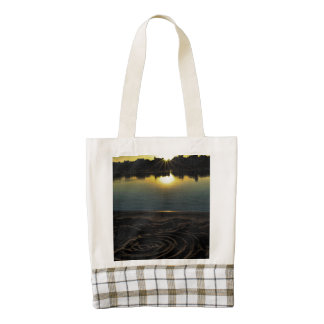 Sunset Along The Wisconsin River With Sand Zazzle HEART Tote Bag