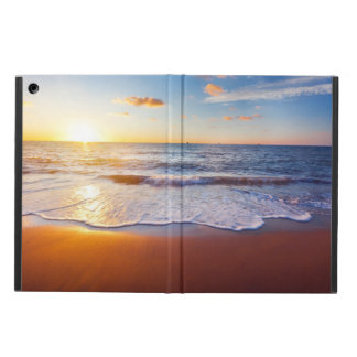 Sunset and beach iPad air covers