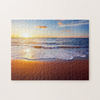 Sunset and beach jigsaw puzzle