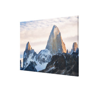 Sunset And Clouds Over Mt Fitzroy Canvas Print