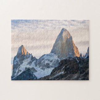 Sunset And Clouds Over Mt Fitzroy Jigsaw Puzzle