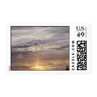 Sunset and Clouds Postage Stamp