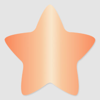 Sunset and Coquelicot Gradient Star Sticker