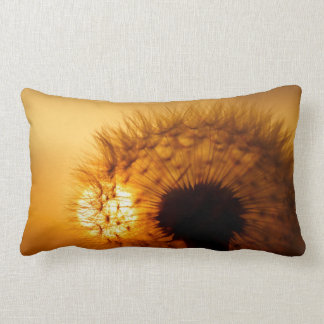 Sunset and Dandelion Throw Pillow
