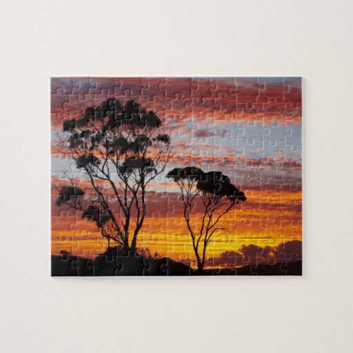 Sunset and Gum Tree, Binalong Bay, Bay of Fires, Puzzles
