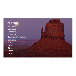 Sunset and moonrise at Mitten Butte, Monument Vall Double-Sided Standard Business Cards (Pack Of 100)