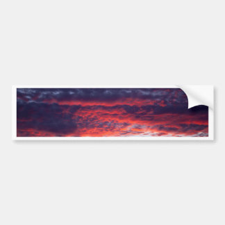 Sunset and mountain photo bumper sticker