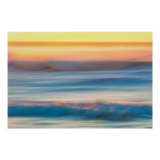 Sunset and Ocean   Cape Disappointment State Park Poster