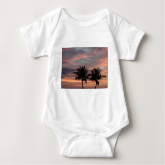 Sunset and palm trees baby bodysuit