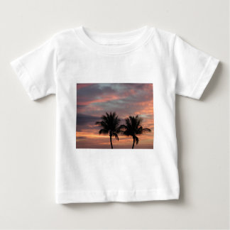 Sunset and palm trees baby T-Shirt