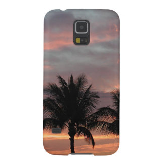 Sunset and palm trees case for galaxy s5