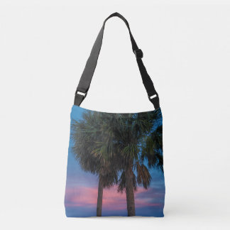 Sunset and Palm Trees crossbody bag