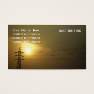 Sunset and Power Lines Business Card