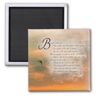 Sunset and Psalms - Bible Verses Psalms 1:1 Magnet