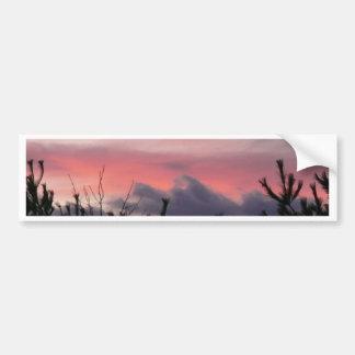 Sunset and Purple Mountains Bumper Sticker