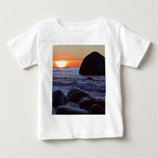 Sunset and rocks on the Baltic Sea coast Baby T-Shirt