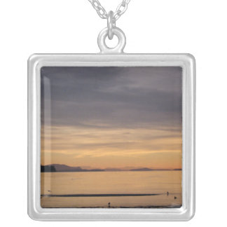 Sunset and Sea Birds Necklace