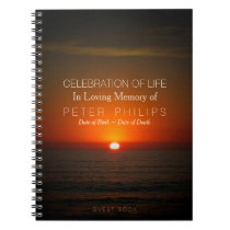 Sunset and Sea Celebration of Life Guest Book