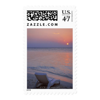 Sunset and Sea Postage Stamp