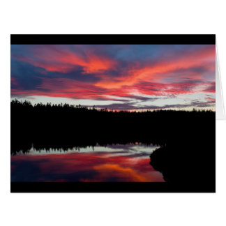 Sunset and Seawall Pond Acadia National Park Card