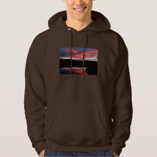 Sunset and Seawall Pond Acadia National Park Hoodie