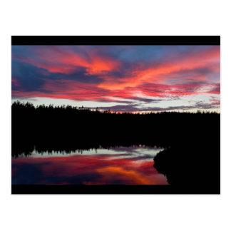 Sunset and Seawall Pond Acadia National Park Postcard