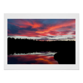 Sunset and Seawall Pond Acadia National Park Poster