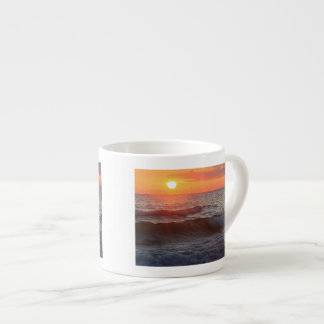 Sunset and Surf Espresso Cups