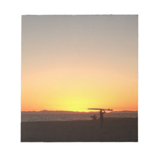 Sunset and Surfboard Notepad
