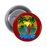 Sunset And Surfboards 2 Inch Round Button