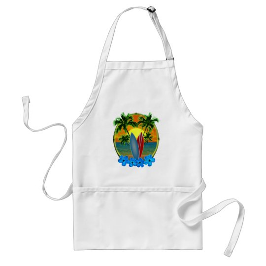 Sunset And Surfboards Adult Apron