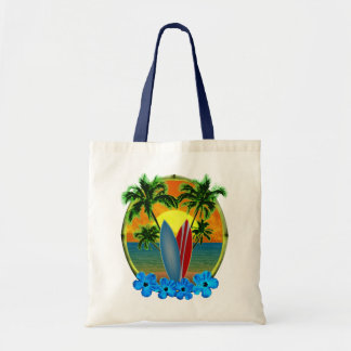 Sunset And Surfboards Canvas Bags