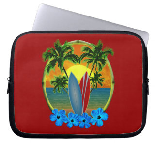 Sunset And Surfboards Laptop Computer Sleeve