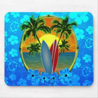 Sunset And Surfboards Mousepads